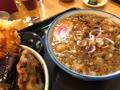 イカ天丼、たぬき蕎麦セット
